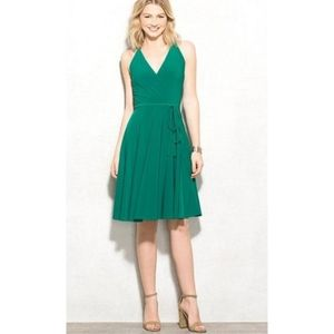 Ashley Graham Beyond Green Faux Wrap Dress